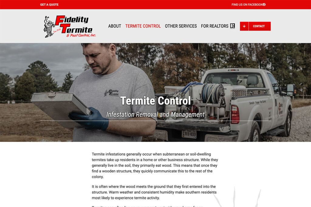 Pest Control Website Design